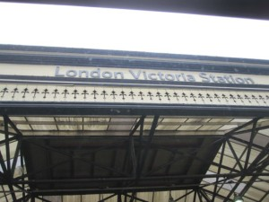 Arrived by bus at Victoria Station!