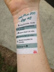 Check out the temporary tattoo leg instructions!