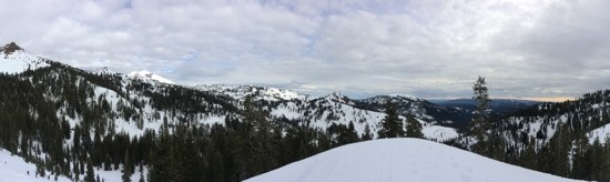 Snowy Lassen Volcanic National Park - from my first adventure snowshoeing