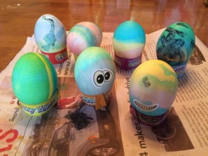 Easter coincided with our trip and to celebrate, we dyed eggs.