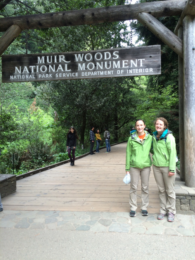 Day two of our adventure led Laura and I to Muir Woods National Monument. Yes, we are wearing matching rain jackets and pants; we bought the rain jackets separately.