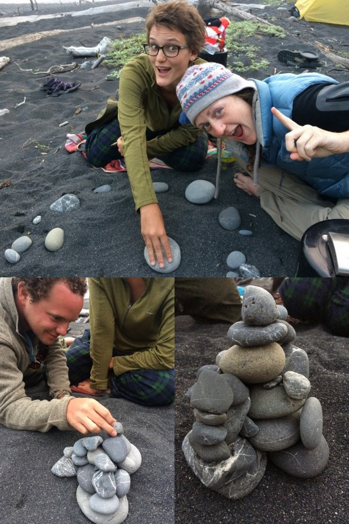 On the third and final camping night, we played rock stack, which is exactly what it sounds like and more fun than you may be imagining. Look at our creation!